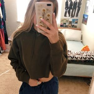 Urban outfitters army green hoodie